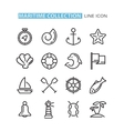 set of icons sea vector image
