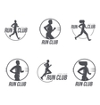 Set of running club logo templates vector image