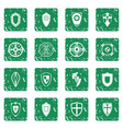 shields set grunge vector image vector image