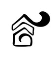 simple calligraphy house real icon estate vector image vector image