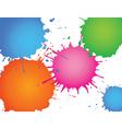 splatter ink vector image vector image