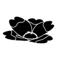 summer flower icon simple black style vector image