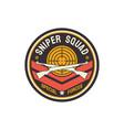 us military chevron special sniper squad icon vector image vector image