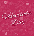 valentines day greeting card doodle hearts pattern vector image