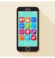 with a mobile phone flat icons for web and mobile vector image