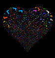 yes fireworks heart vector image vector image