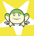 cute frog cartoon with star on backgroundlovely vector image