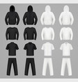 silhouettes clothes black and white colors vector image