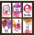 Wine Cards Set vector image