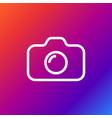 camera icon on colored background vector image