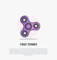 fidget spinning spinner vector image