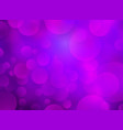 abstract purple circular bokeh background vector image