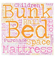 Are loft beds bunk beds safe text background vector image vector image