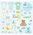 Baby boy clipart vector image