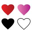 Basic Red Heart symbol shape outline vector image
