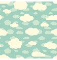 blue sky and cute white clouds seamless pattern in vector image vector image