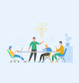 business meeting teamwork concept businessman vector image vector image