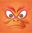 cartoon evil face duck on grey background vector image vector image