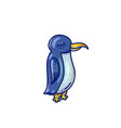 cartoon penguin bird vector image vector image