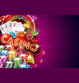 casino with roulette wheel and vector image vector image
