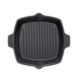 cast-iron grill pan vector image