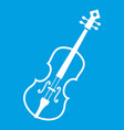 cello icon white vector image vector image