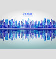 city skyline with reflection in water vector image vector image