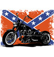 custom motorbike with flag in background vector image vector image