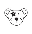 cute bear head icon vector image
