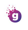 dots letter g logo g letter design with dots vector image vector image