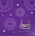 eid mubarak greeting card design vector image