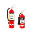 fire extinguishers set in north american style vector image vector image