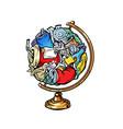 globe international garbage household plastic food vector image