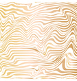 Golden abstract wave line ink texture vector image