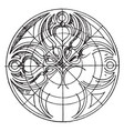 gothic circular panel is a design found on an old vector image vector image