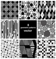 graphic set of different patterns vector image vector image