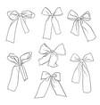 hand drawn bow-knots vector image vector image