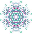 Hand drawn mandala abstract circle ornament vector image