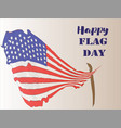 happy flag day 3 vector image