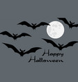 happy halloween card with scary black and white vector image