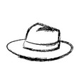 hat for men elegance with ribbon accessory icon vector image