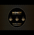 honey and bee logo for company label background vector image vector image