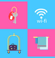 hotel conveniences themed isolated vector image vector image