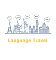 logo for the language courses and schools vector image