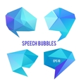 Low poly speech bubbles vector image vector image