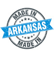 made in Arkansas blue round vintage stamp vector image vector image
