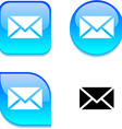 mail glossy button vector image vector image