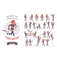 male firefighter ready-to-use character set vector image