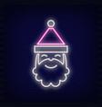 neon santa claus vector image