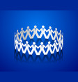 paper men holding hands in the shape of a circle vector image vector image